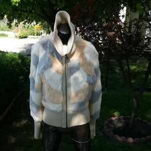BeBe rabbit fur jacket